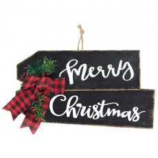 Deluxe Embellished Sign Merry Christmas Hanging Decoration 20.3cm x 39.4cm