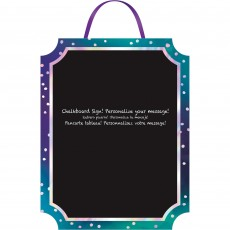 Sparkling Sapphire Party Decorations - Chalkboard Menu Easel