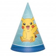Pokemon Core Cone Party Hats Pack of 8