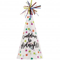New Year Cone Countdown to Midnight Party Hat 23cm