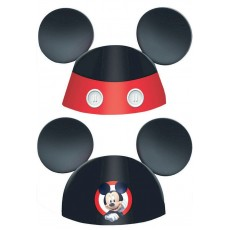Mickey Mouse On The Go Ears Die-Cut Cone Party Hats Pack of 8