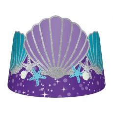 Mermaid Wishes Glitter Crown Tiaras Pack of 8