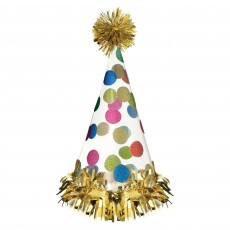 Dots Party Supplies - Party Hats Happy Dots Large Cone