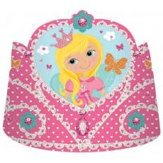 Woodland Princess Paper Tiaras Pack of 8