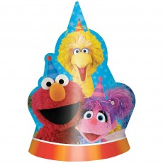 Sesame Street Shaped Cardboard Party Hats Pack of 8