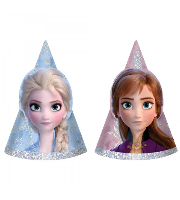 Disney Frozen 2 Mini Holographic Party Hats Pack of 8