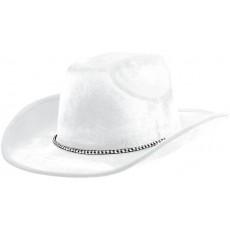Cowboy & Western White Velour Cowboy Hat Head Accessory 12.7cm x 33cm