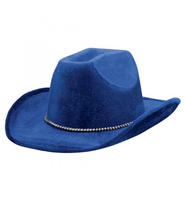 Cowboy & Western Blue Velour Cowboy Hat Head Accessory 12.7cm x 33cm