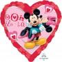 Heart Love Standard XL Mickey & Minnie Shaped Balloon 45cm