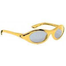 Gold Oval Metallic Glasses Head Accessory