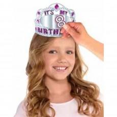 Happy Birthday Tiaras 6cm x 13cm Customisable Age