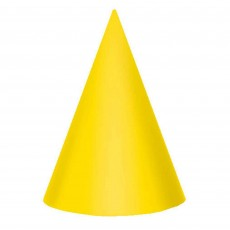 Primary Multi Coloured Cone Party Hats 17cm Pack of 12