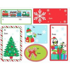 Christmas Assorted Glittered Gift Tags Misc Accessories Pack of 48