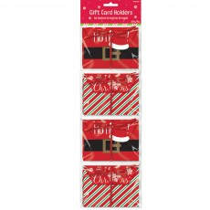 Christmas Holiday Gift Card Envelope Holders Misc Accessories Pack of 4