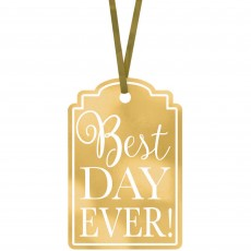 Gold Printed Tags Best Day Ever! Misc Accessories Pack of 25
