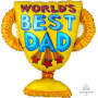 Trophy Father's Day SuperShape World's Best Dad Shaped Balloon 66cm x 68cm