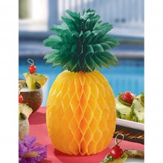 Hawaiian Party Decorations Pineapple Honeycomb Centrepieces 30.4cm