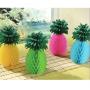Multi Coloured Hawaiian Luau Pineapple Honeycomb Centrepieces 29cm Pack of 4