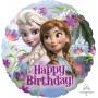 Round Disney Frozen Standard HX Happy Birthday! Foil Balloon 45cm