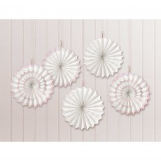 Gold Party Decorations - Hanging Decorations Mini Paper Fans