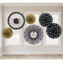 Graduation Paper Fan Hanging Decorations Pack of 6