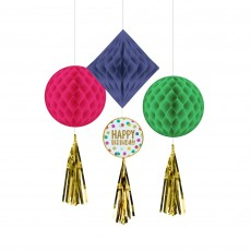 Dots Party Decorations - Hanging Decorations Happy Dots Honeycomb