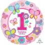 Round Girl's 1st Birthday Standard HX Sweet Foil Balloon 45cm