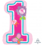Girl's 1st Birthday SuperShape XL Sweet Shaped Balloon 48cm x 71cm
