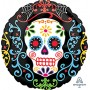 Round Halloween Day of the Dead Standard Foil Balloon 45cm