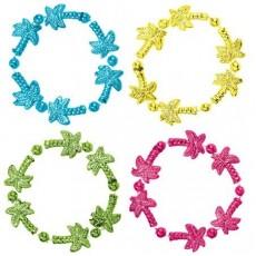 Hawaiian Tropical Bead Bracelets Jewellery 10cm Pack of 4