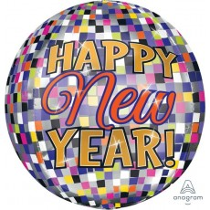 Orbz Disco Happy New Year! Shaped Balloon 38cm x 40cm