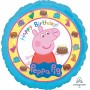 Round Peppa Pig Standard HX It's Play Time Foil Balloon 45cm