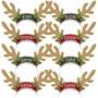 Christmas Santa's Reindeer Antlers Headband Party Hats Pack of 8