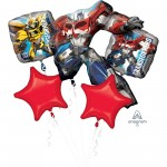 Transformers Bouquet Animated Design Foil Balloons Pack of 5