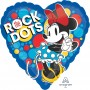Heart Minnie Mouse Standard HX Rock the Dots Shaped Balloon 45cm