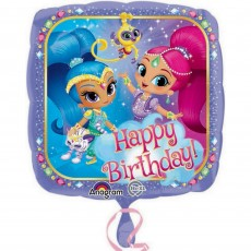 Square Shimmer & Shine Standard HX Happy Birthday! Foil Balloon 45cm