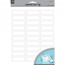 White Impritable Favour Tags Misc Accessories Pack of 120