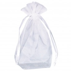 White Box Bottom Organza Containers 13.9cm x 10.1cm Pack of 12
