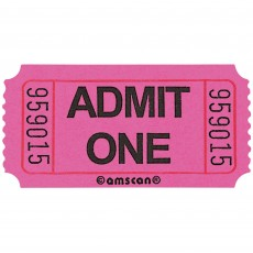 Pink Ticket Roll Admit One Misc Accessory