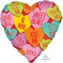 Heart Love Standard HX Hearts with Messages Shaped Balloon 45cm