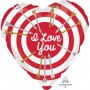Heart Standard HX Bullseye I Love You Shaped Balloon 45cm