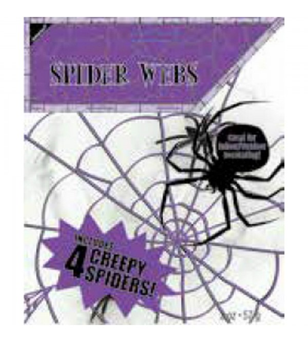 Halloween Spider Web with Spiders Misc Decoration 60sqm