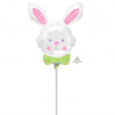 Easter Happy Hop Bunny Mini Shaped Balloon