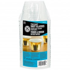 Clear Party Supplies - Two Party Plastic Shot Glass