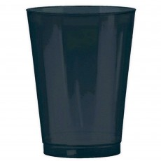 Jet Black Tumbler Big Party Plastic Cups 295ml Pack of 72