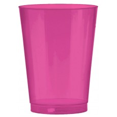 Bright Pink Big Party Tumbler Plastic Glasses 295ml Pack of 72