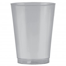 Silver Big Party Tumbler Plastic Glasses 295ml Pack of 72