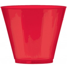 Apple Red Tumbler Big Party Plastic Glasses 266ml Pack of 72