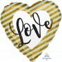 Heart Standard HX Love Stripes Shaped Balloon 45cm