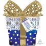 Happy Birthday Intricates Gift Box SuperShape Shaped Balloon 66cm x 71cm